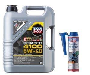 Olej Liqui Moly 5W40 Top Tec 4100 5L + Injection Reiniger !