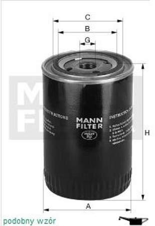 Filtr oleju MANN Fiat Cinquecento  0.9